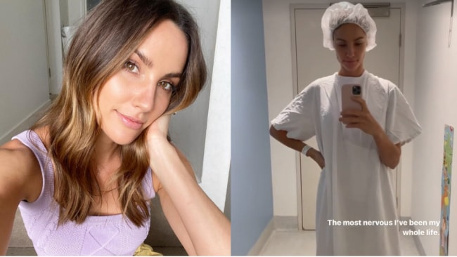 Rachel Finch entfernt Brustimplantate, nachdem sie Schmerzen in der Brust verspürt hat